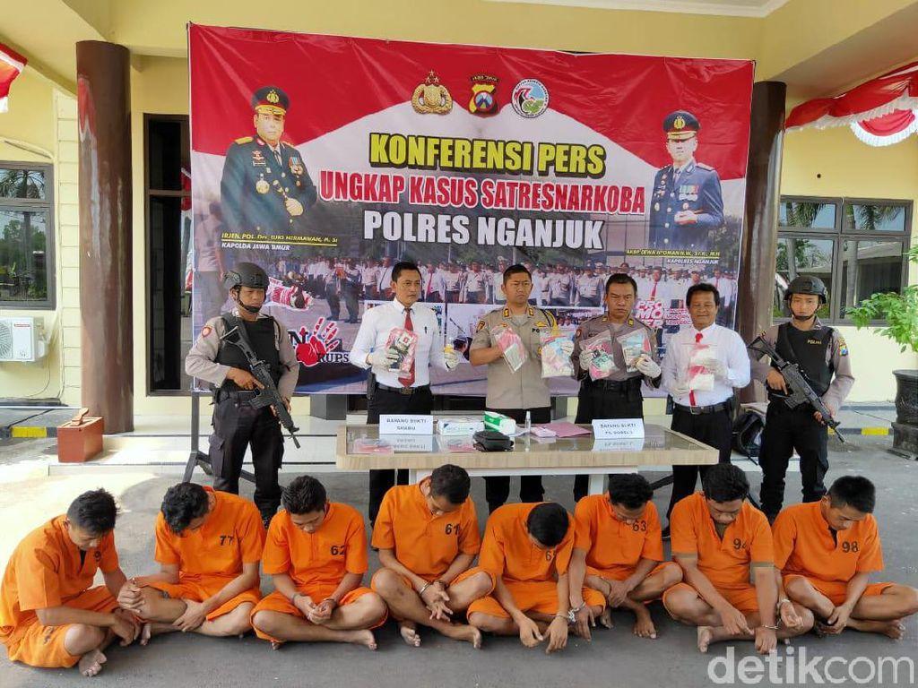 Prabowo dan 7 Pengedar Narkoba di Nganjuk Diringkus Polisi