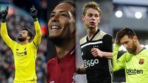 Pemain Terbaik Per Posisi di Liga Champions 2018/2019, Siapa Saja?