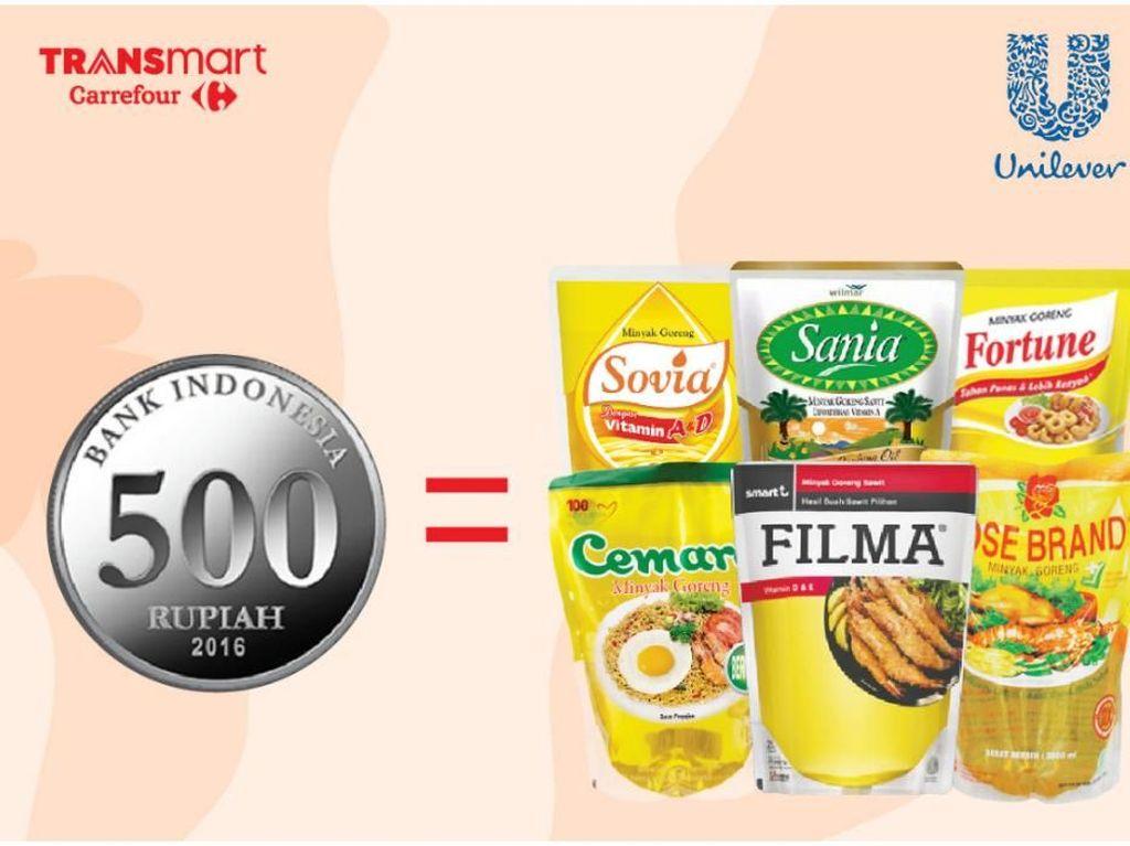 Beli Minyak Goreng 2 Liter Cuma Rp 500 di Transmart Carrefour?