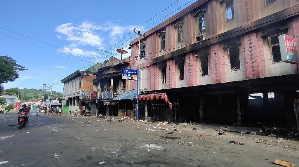 Suasana Terkini Jayapura Pascarusuh