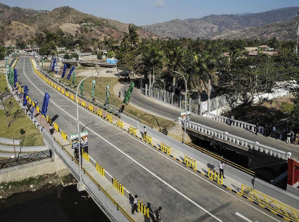 Penampakan Jembatan BJ Habibie di Timor Leste