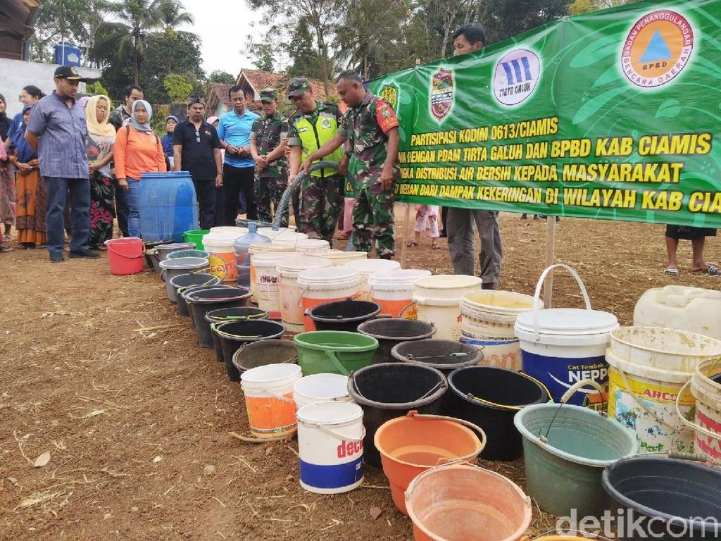 Ciamis Krisis Air Bersih, Warga Butuh Bantuan 30 Ribu Liter Per Hari
