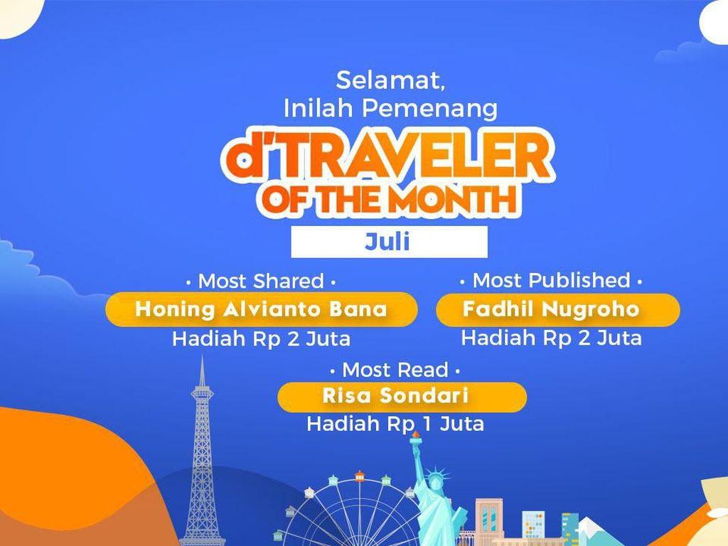 Ini Dia 3 Pemenang dTraveler of The Month Juli