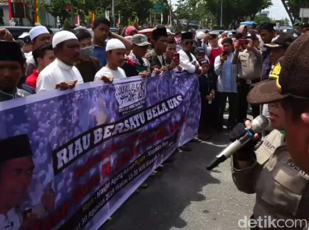 Forum Umat Islam di Pekanbaru Gelar Aksi Demo Dukung UAS