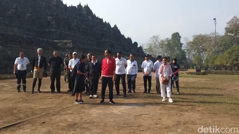 Jokowi di Borobudur (Eko Susanto/detikcom)