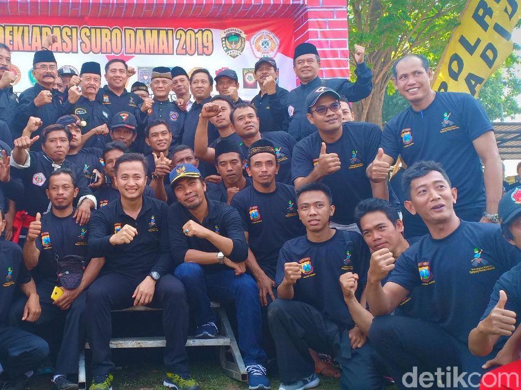 14 Perguruan Silat di Madiun Berikrar Jaga Perdamaian di Bulan Suro