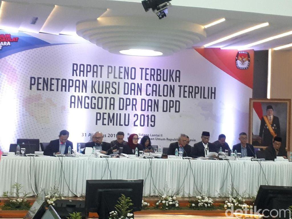 KPU Tetapkan 575 Anggota DPR Terpilih Melenggang ke Senayan