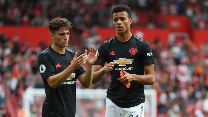 Mason Greenwood dan Daniel James dua opsi di lini depan Manchester United saat ini. (Foto: Catherine Ivill/Getty Images)
