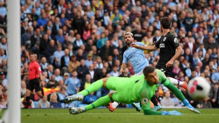 Manchester City Vs Brighton Aguero Dua Gol Citizens Menang 4 0