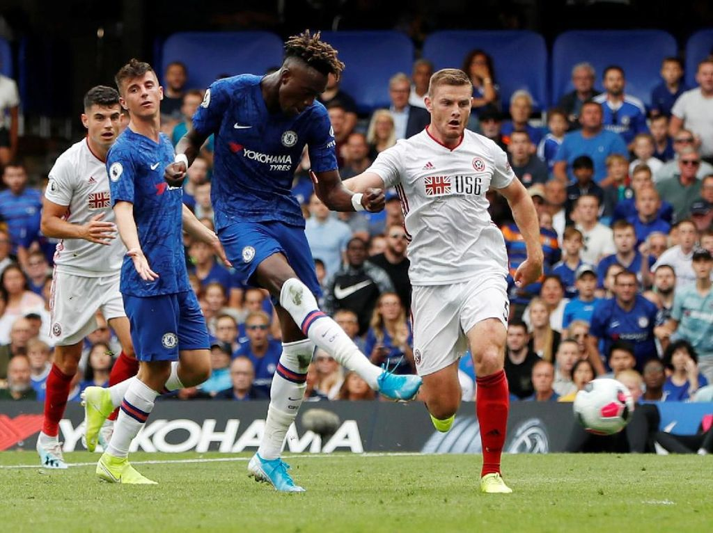 Babak I: Abraham Dua Gol, Chelsea Ungguli Sheffield 2-0