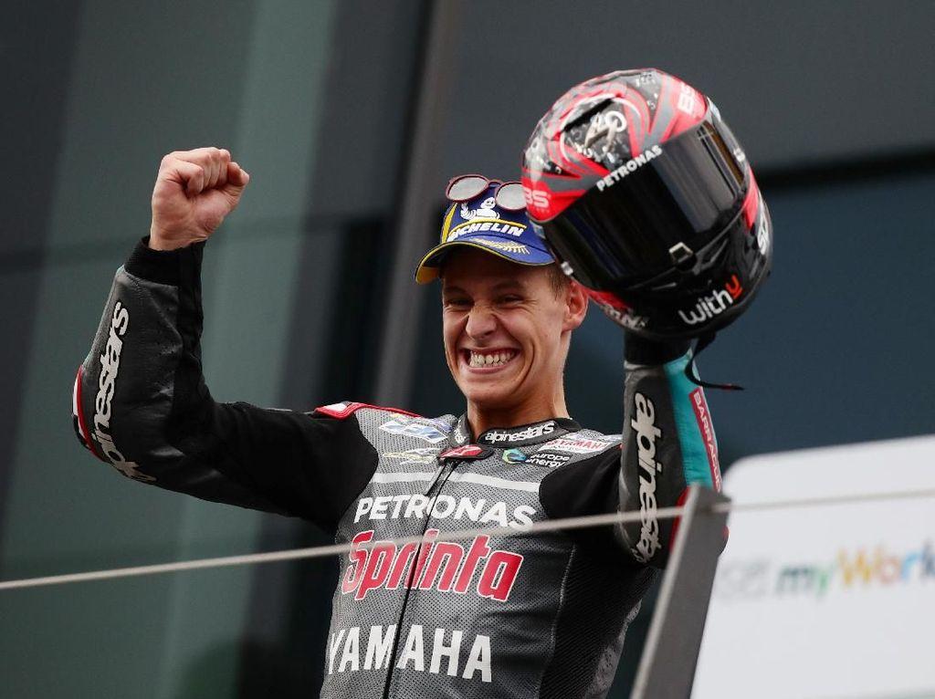 Baru Pulih dari Gegar Otak, Quartararo Tercepat di Tes MotoGP Misano