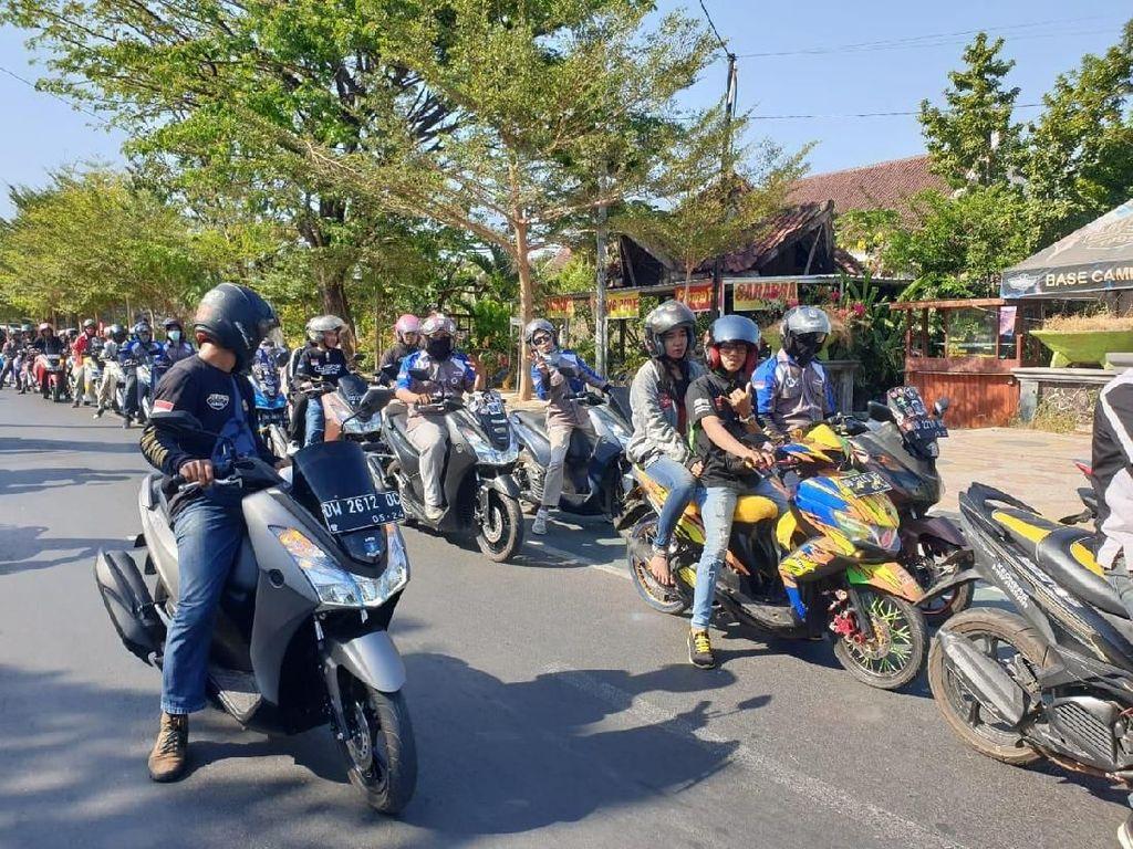 Ratusan Bikers Yamaha Serbu Pantai Losari Makassar
