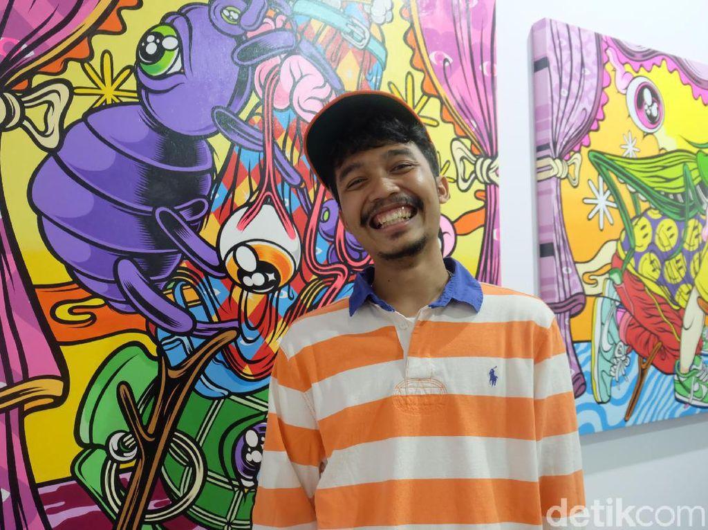 Warna-warni Lukisan Muklay di Art Jakarta 2019