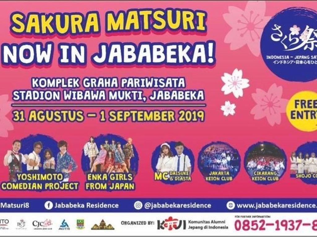 Asyik! Festival Sakura Matsuri Kini Hadir di Kota Jababeka