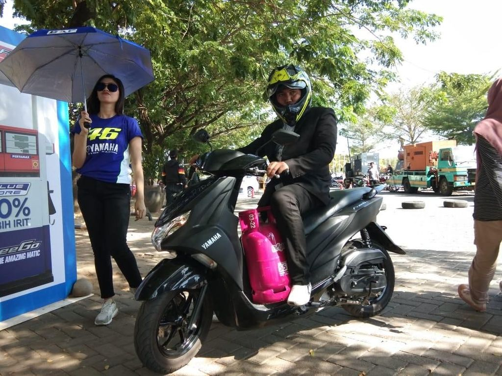 Test Ride Yamaha FreeGo di Makassar, Enak Bawa Tabung LPG
