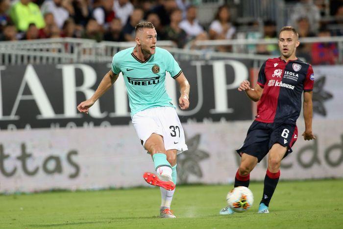 Inter Milan bertanding melawan Cagliari di Sardegna Arena, Senin (2/9/2019) dinihari WIB. Enrico Locci/Getty Images.