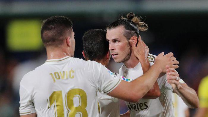 Pemain Real Madrid, Gareth Bale, mendapat dua kartu kuning saat melawan Villarreal. (Foto: Juan Medina/Reuters)