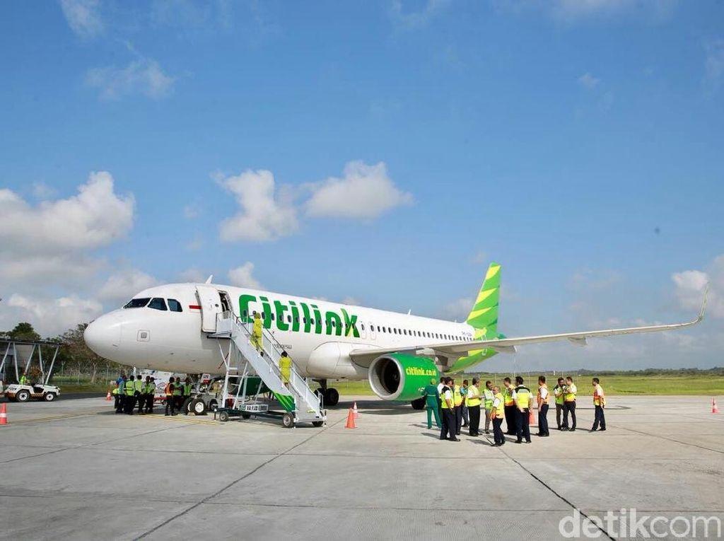 Citilink Layani 104 Penerbangan Reguler, Klaim Terapkan Jaga Jarak