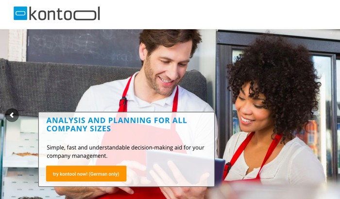 Website Kontool. Foto: Screenshot