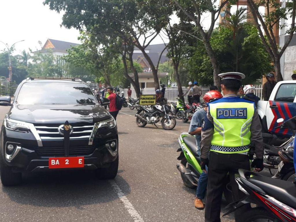 Pakai Pelat Palsu, Mobil Dinas Dewan Terjaring Operasi Patuh di Pekanbaru