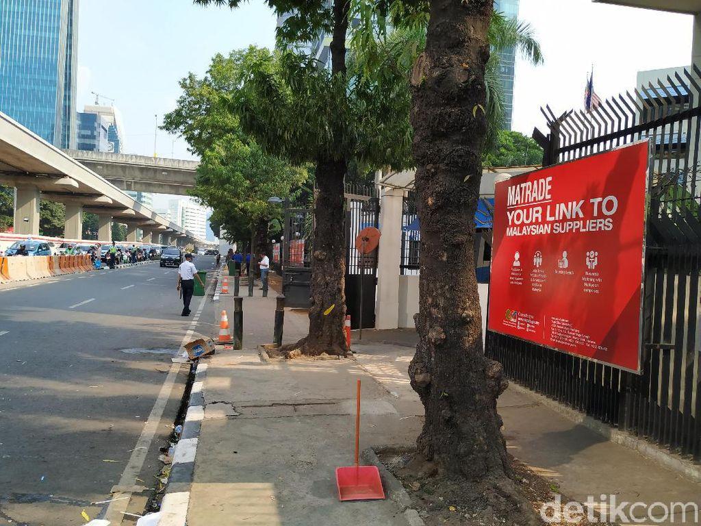 Driver Gojek Akhiri Demo Kedubes Malaysia, Jalan Kembali Lancar