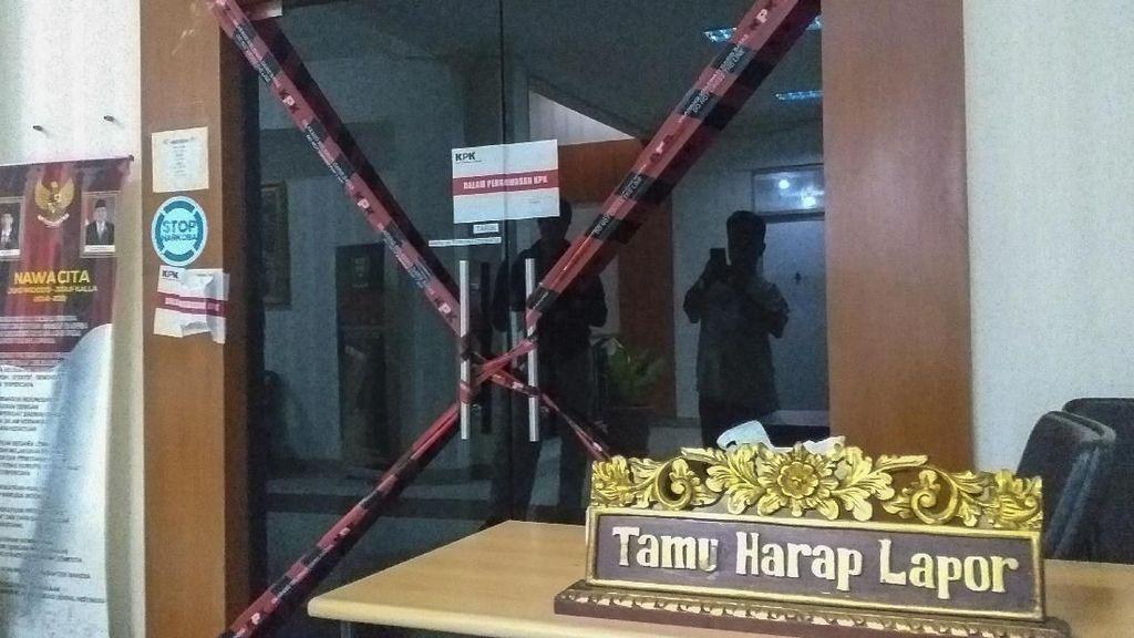 KPK Segel Kantor Bupati Kabupaten Muara Enim