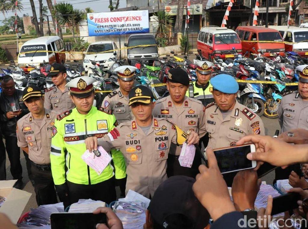 145 Motor dan 22 Mobil Disita Selama 3 Hari Operasi Patuh di Garut
