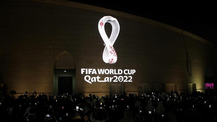 The tournaments official logo for the 2022 Qatar World Cup is seen on the wall of an amphitheater, in Doha, Qatar, September 3, 2019. REUTERS/Naseem Zeitoun