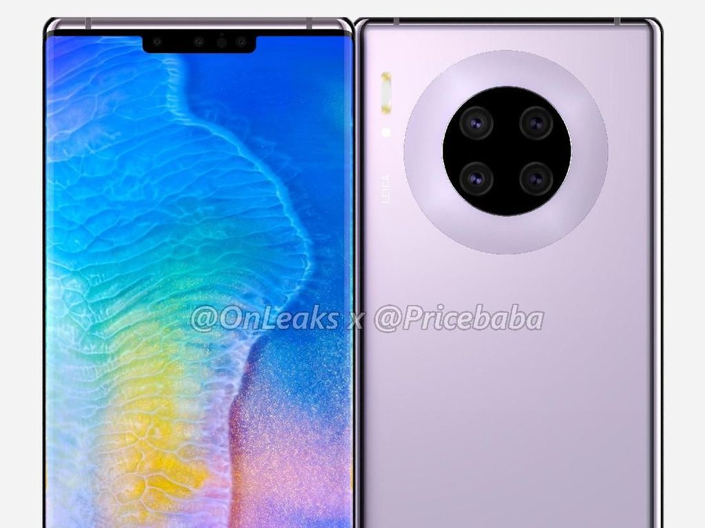 Mungkin Begini Wujud Huawei Mate 30 Pro