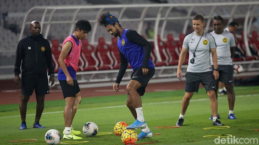 Timnas Malaysia Jalani Latihan di GBK