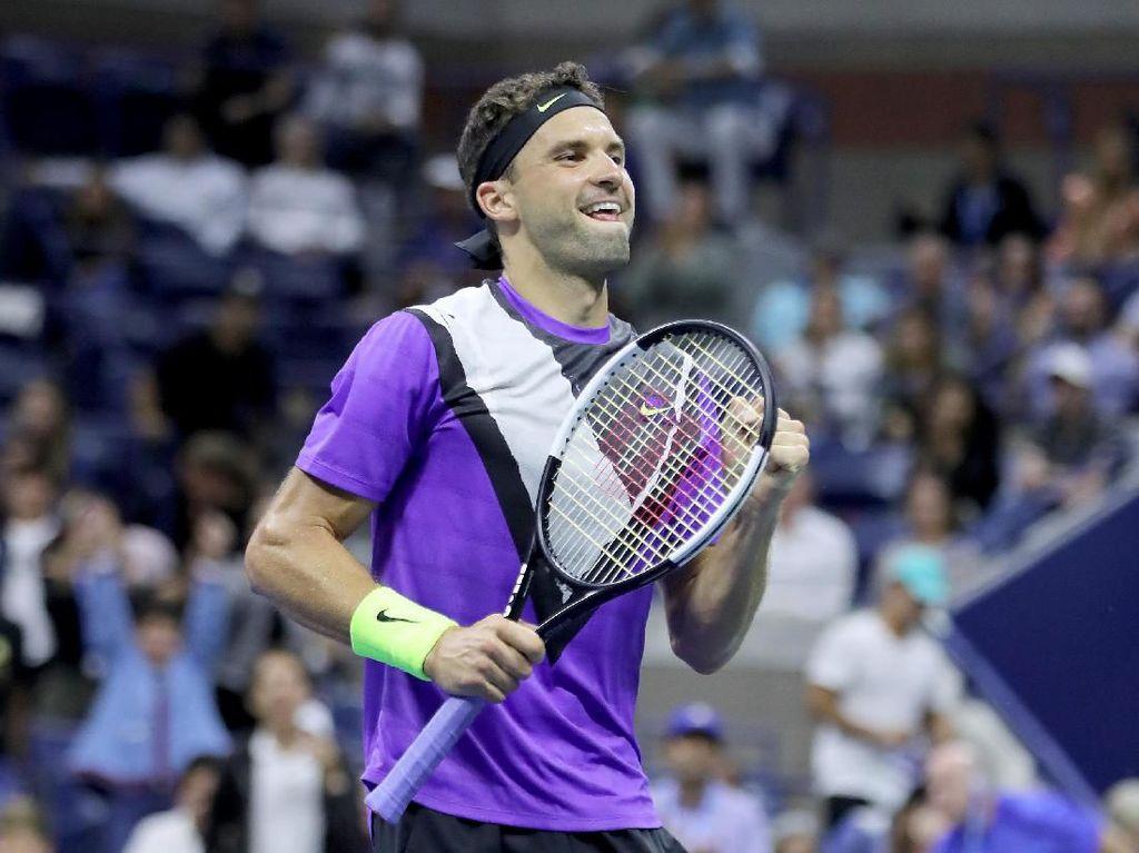 Kalahkan Federer dalam Duel 5 Set, Dimitrov ke Semifinal AS Terbuka
