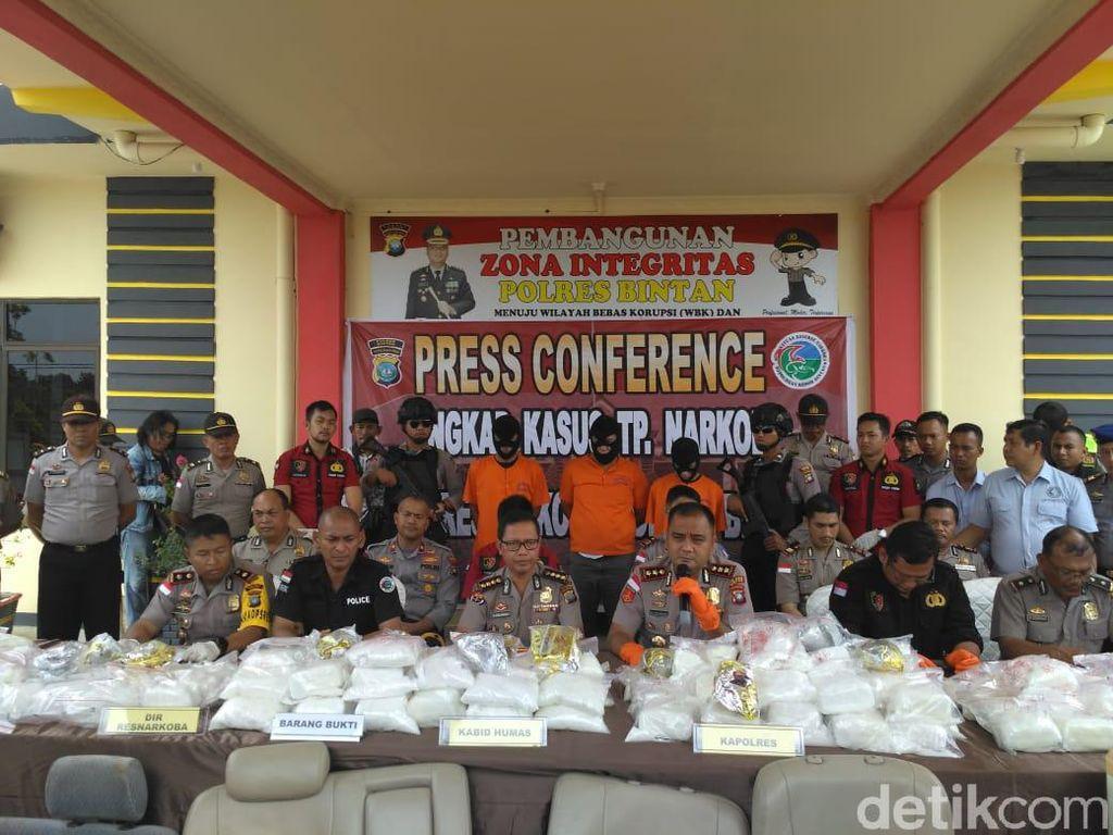 3 Sopir Bus Antar-Sekolah di Bintan Kepri Kepergok Miliki Sabu 119 Kg