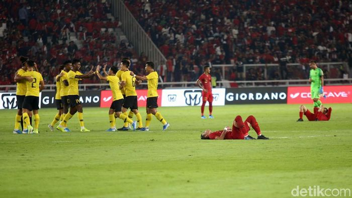 Timnas Indonesia dinilai sudah bermain seperti rencana meski tumbang dari Malaysia. (Foto: Agung Pambudhy/detikcom)