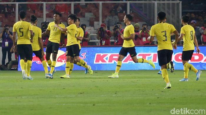 Timnas Malaysia menaklukkan Indonesia 0-2 di Kualifikasi Piala Dunia 2022. (Foto: Agung Pambudhy/detikcom)