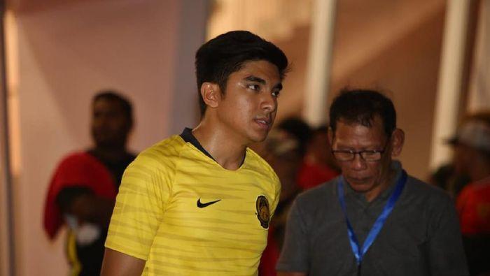 Syed Saddiq kecewa dengan keterangan polisi Indonesia. (Foto: Agung Pambudhy/detikSport)
