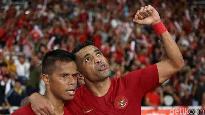 Timnas Indonesia masih imbang dalam rekor pertemuan dengan Uni Emirat Arab. (Foto: Agung Pambudhy/detikcom)