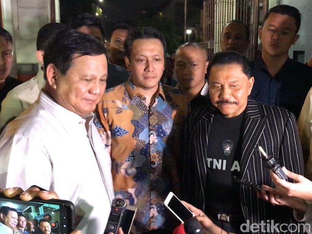 Canda Prabowo Dijamu Nasi Mandhi oleh Hendropriyono: Diet Saya Rusak
