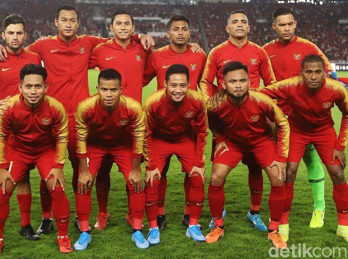 Skuat Timnas Indonesia. (Foto: Agung Pambudhy/detikSport)