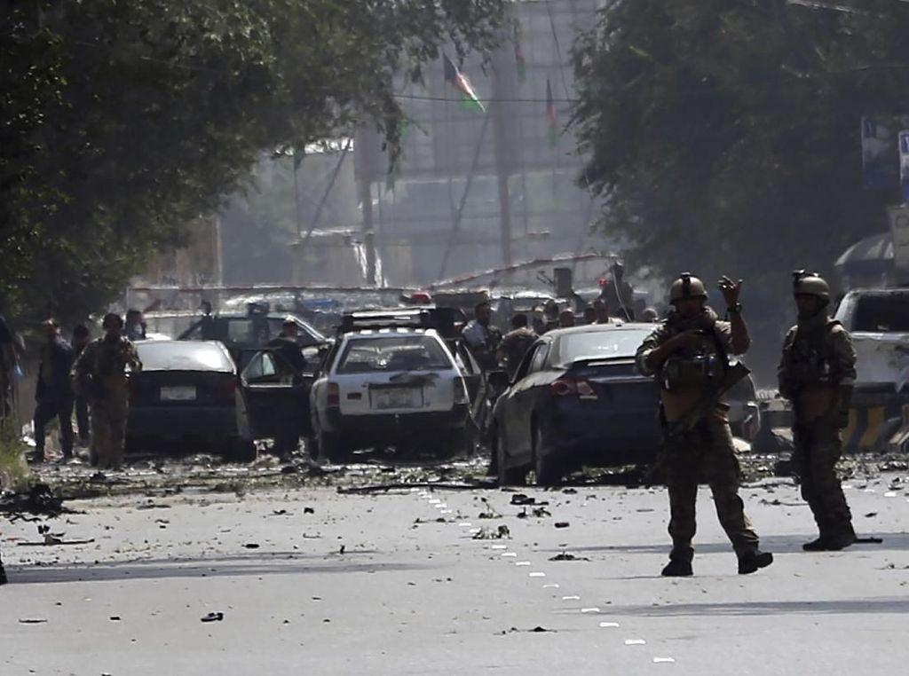 Korban Tewas Bom Bunuh Diri Jelang Pemilu di Afghanistan Jadi 48 Orang