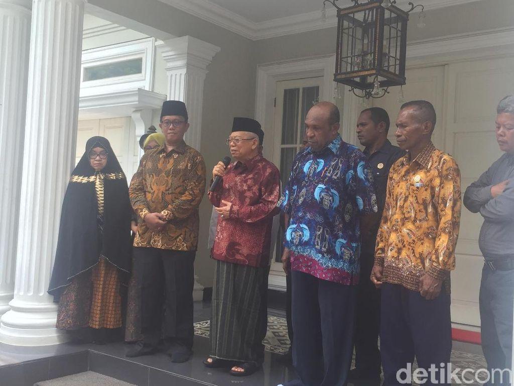 Ditemui Pendeta Papua, Maruf Bicara Pendekatan ala Gus Dur