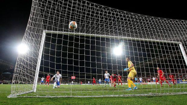 Hasil Kualifikasi Piala Eropa 2020: Belotti Dua Gol, Italia Hantam Armenia 3-1