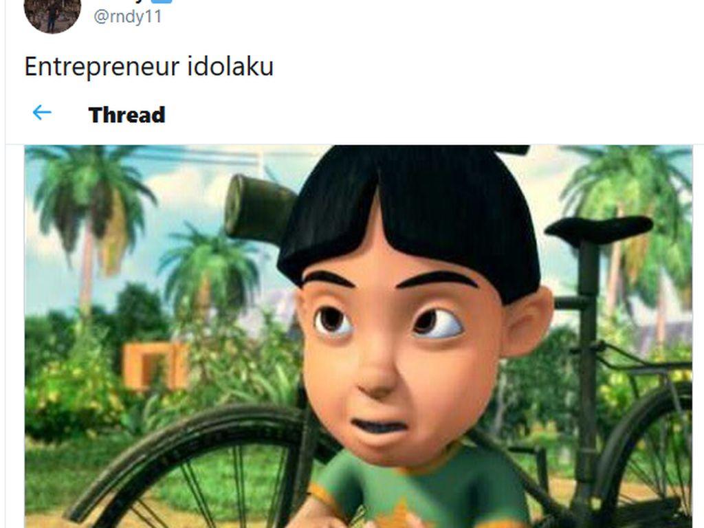 Tweet Viral: Idolakan Mail di Upin Ipin sebagai Entrepreneur
