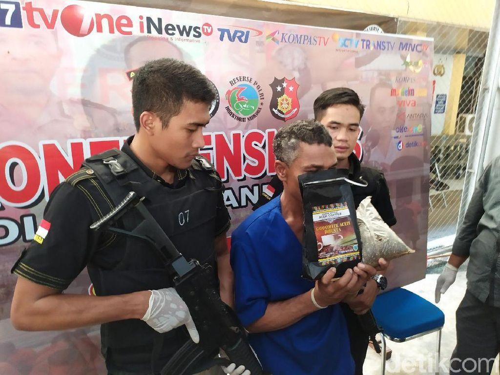 Polisi Ungkap Modus Baru Pengiriman Narkoba di Aceh, Paket Kopi Isi Ganja
