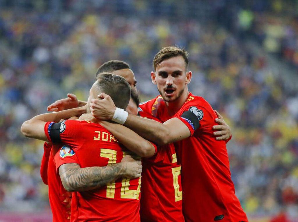 Hasil Kualifikasi Piala Eropa 2020: Spanyol Tundukkan Rumania 2-1