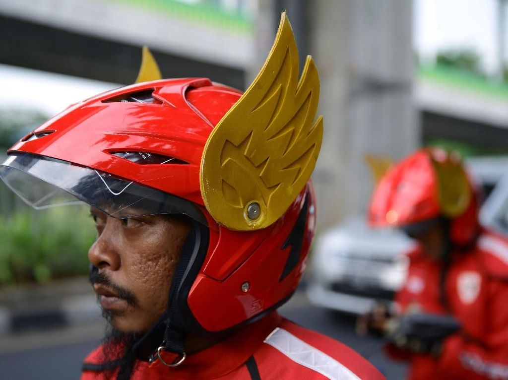 Bukan Tiru Gundala, Gaspol Sudah Lama Rancang Helm Ojol Bersayap