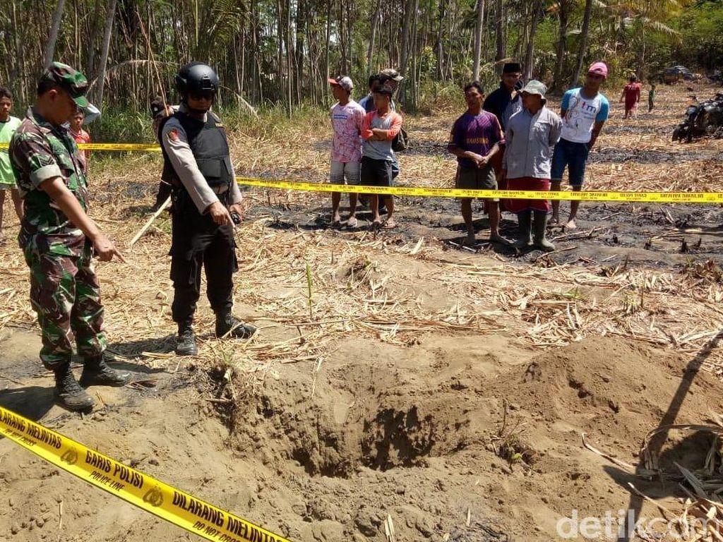 Bom Latih Sukhoi Jatuh di Kebun Tebu Lumajang