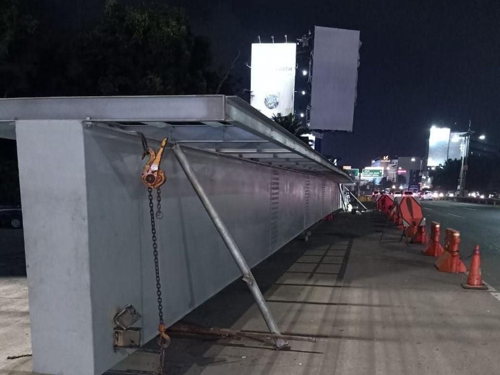 Girder JPO Tol Bandara Dipasang Besok, Jasa Marga Terapkan Rekayasa Lalin