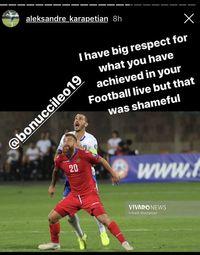 Striker Armenia Murka dengan Bonucci