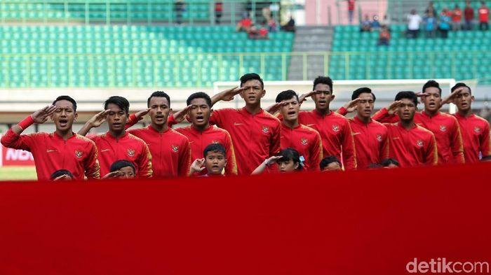Timnas Indonesia U-19 takluk dari China U-19 dengan skor 1-3. (Rifkianto Nugroho/detikSport)