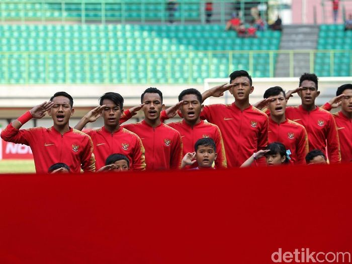 Timnas Indonesia U-19 akan kembali menghadapi Cina U-19, Minggu (20/10/2019). Foto: Rifkianto Nugroho